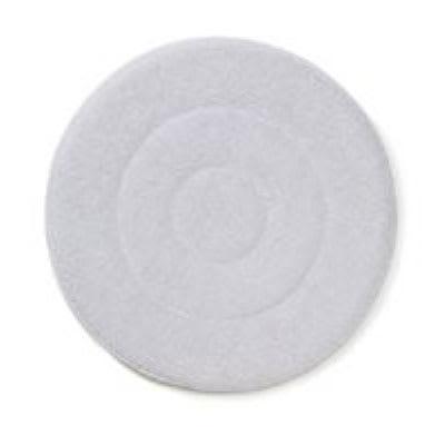 "Rubbermaid FGQ21700WH00 17"" Carpet Bonnet - Low Profile, Microfiber, White"