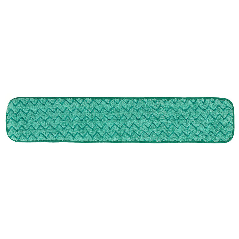 "Rubbermaid FGQ42400GR00 24"" Hygen Dry Hall Pad - Microfiber, Green"