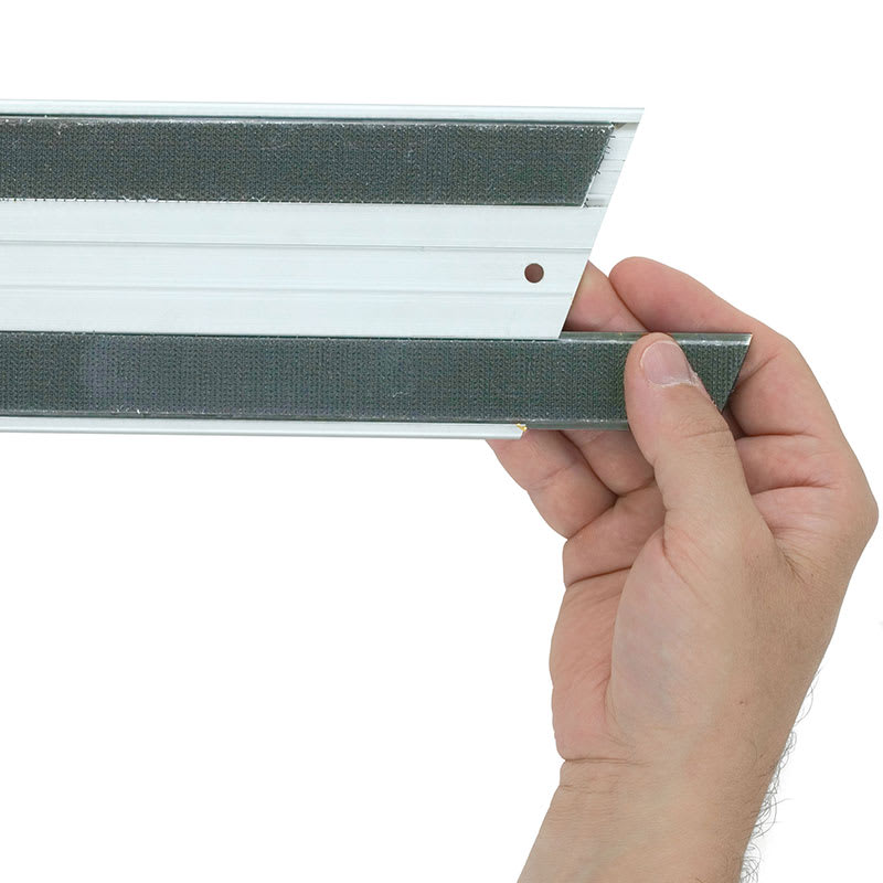 "Rubbermaid FGQ57100GY00 24"" Quick Connect Squeegee Blade Replacement - Gray"
