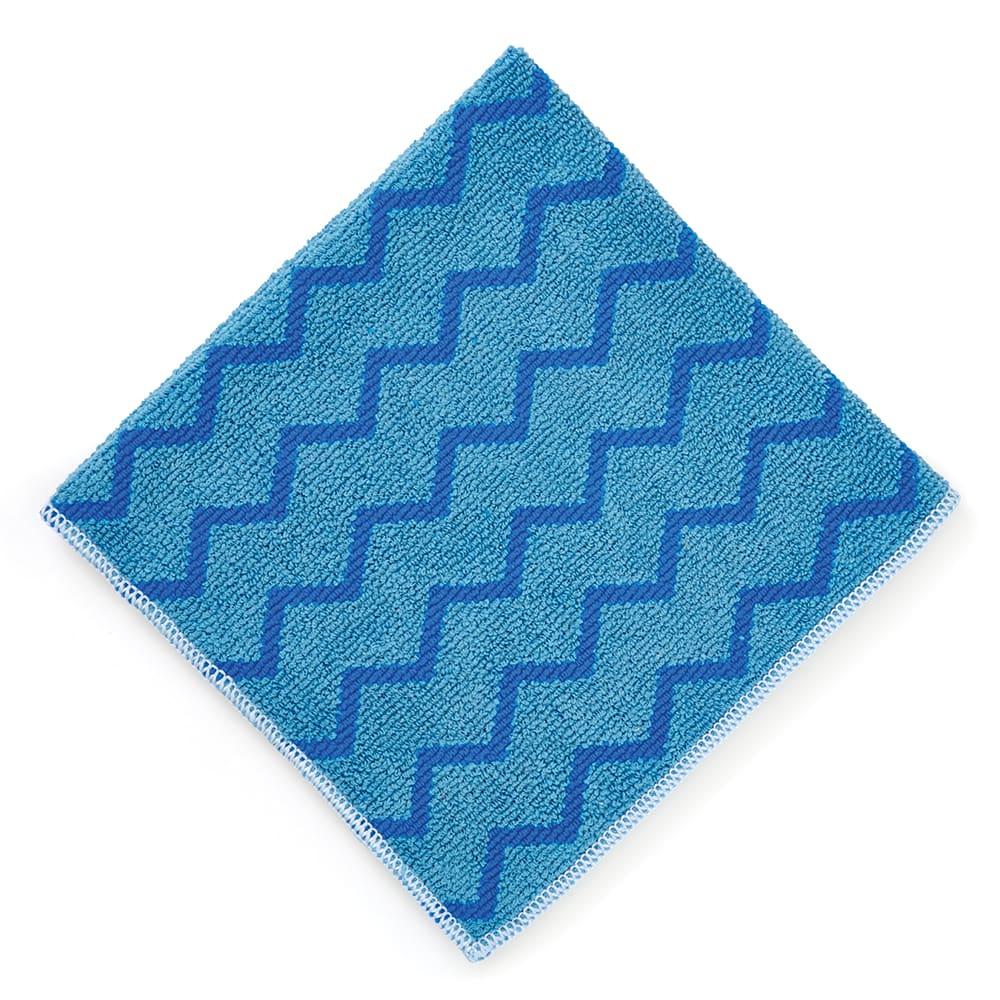 """Rubbermaid FGQ62000BL00 16"""" Square Hygen General Purpose Cloth - Microfiber, Blue"""