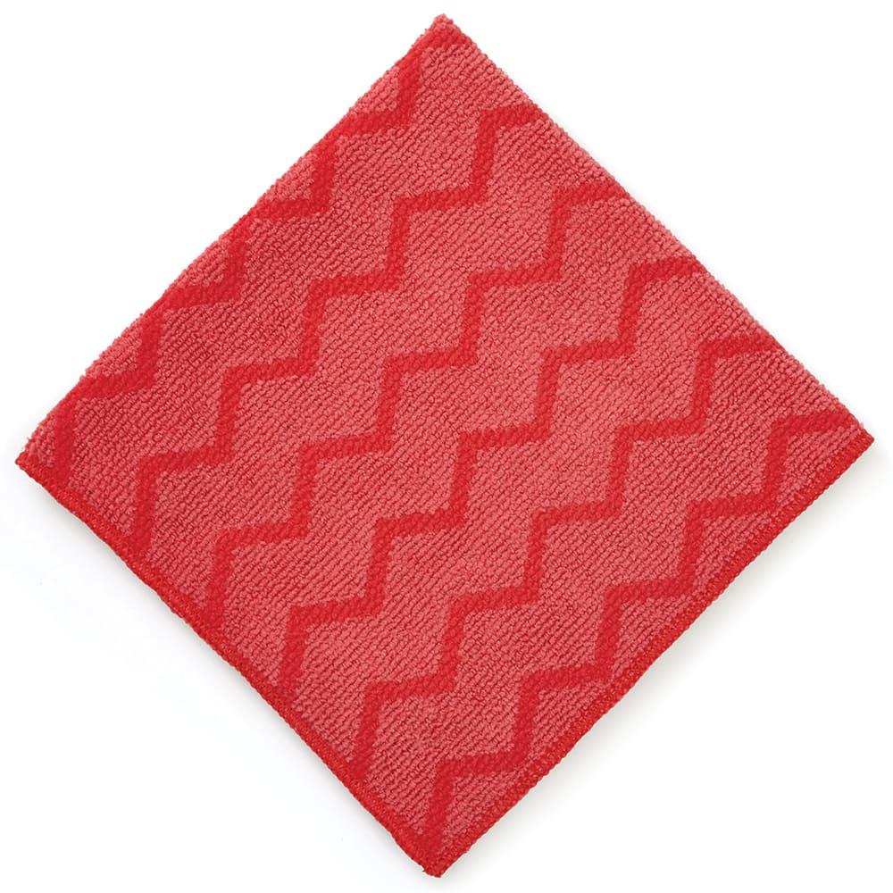 "Rubbermaid FGQ62000RD00 16"" Square Hygen General Purpose Cloth - Microfiber, Red"