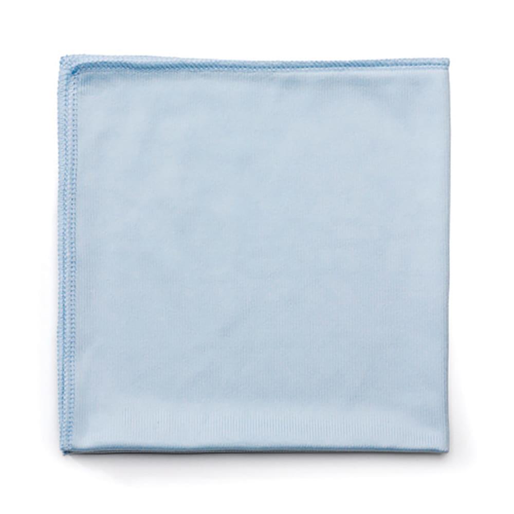 """Rubbermaid FGQ63000BL00 16"""" Square Hygen Glass Cloth - Microfiber, Blue"""