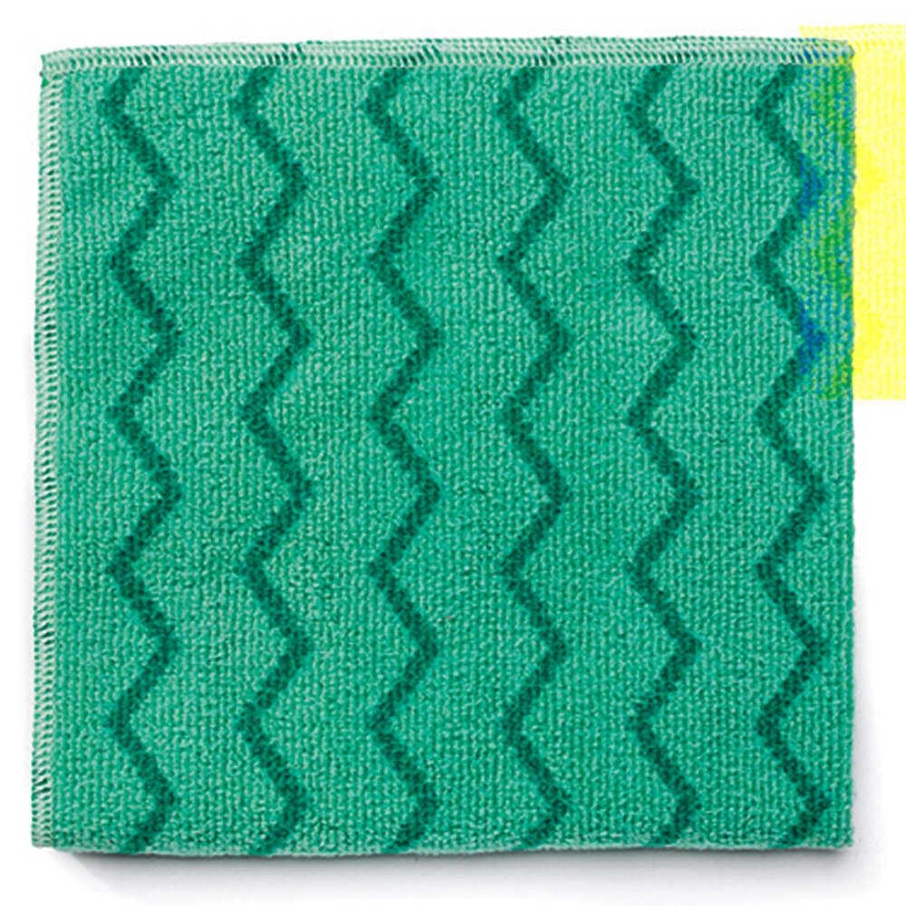 """Rubbermaid FGQ64000GR00 20"""" Square Hygen General Purpose Cloth - Microfiber, Green"""