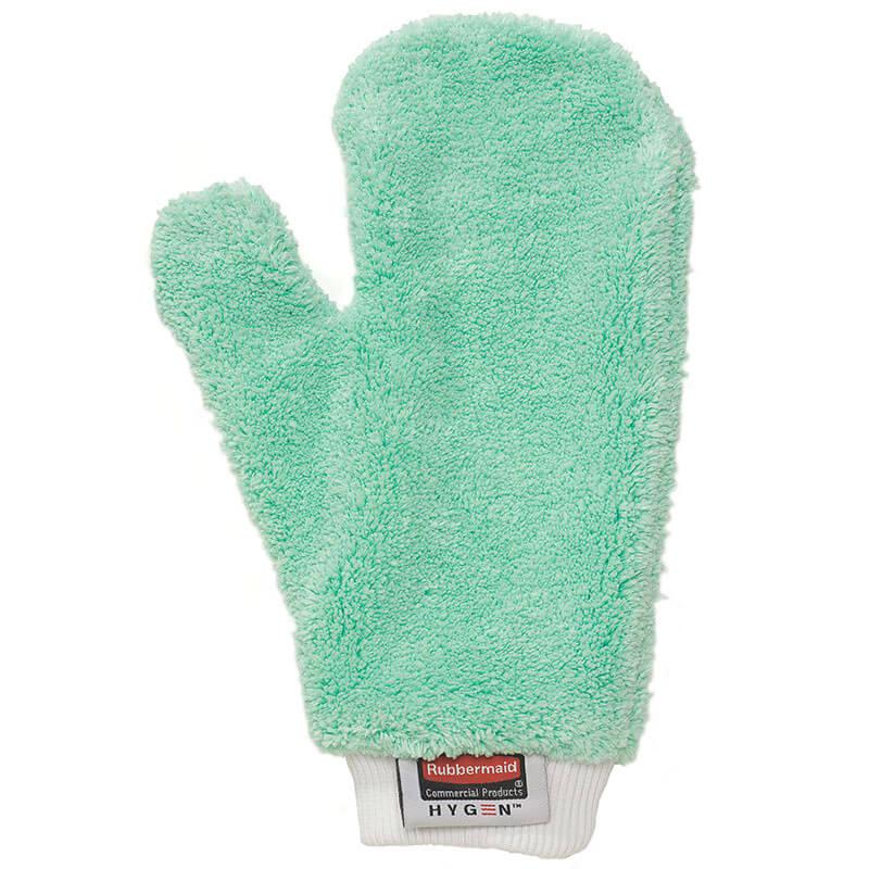 rubbermaid fgq65200gr00 hygen dusting mitt microfiber green