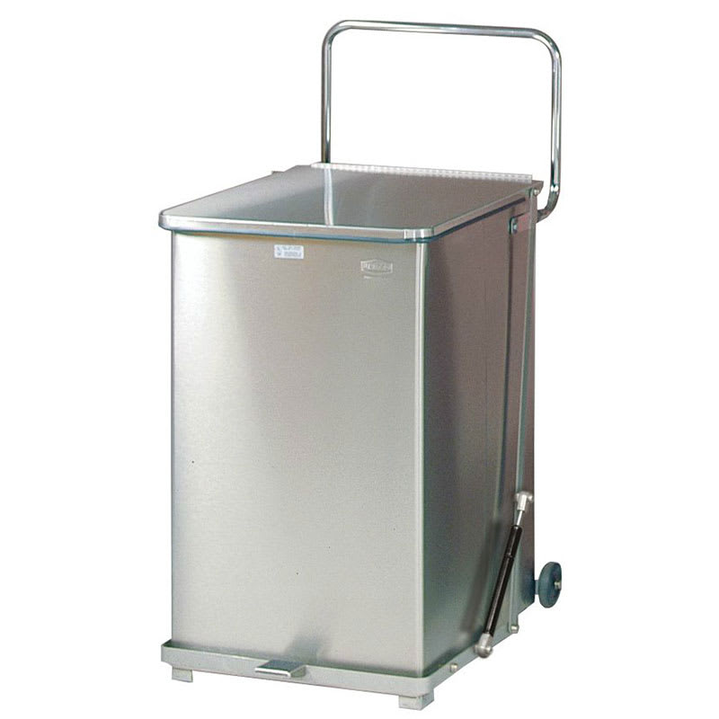 "Rubbermaid FGQST40SWPL 40-gal Square Metal Step Trash Can, 19""L x 19""W x 30""H"