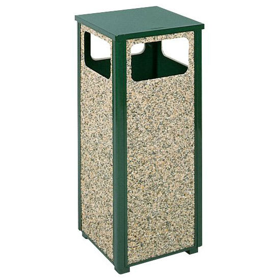 rubbermaid fgr12202pl 12 gal outdoor decorative trash can metal empire green. Black Bedroom Furniture Sets. Home Design Ideas