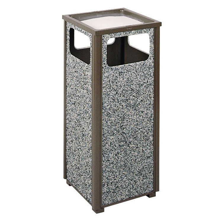 Rubbermaid FGR12SU6000PL Trash Can Top Cigarette Receptacle - Outdoor Rated