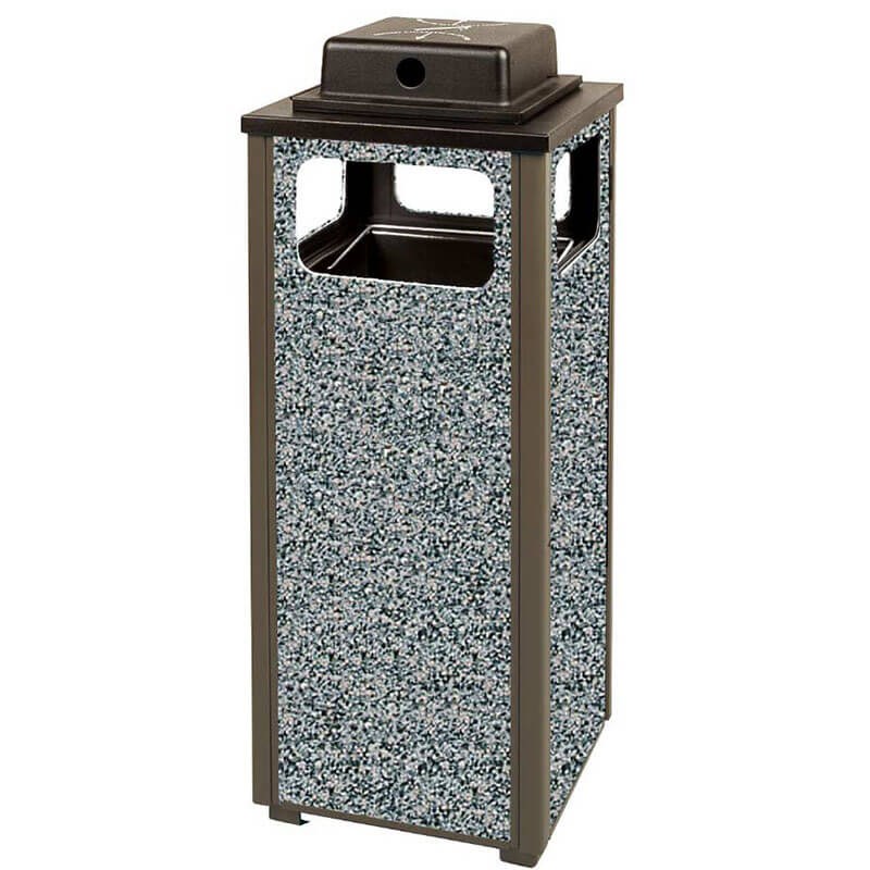 Rubbermaid FGR12WU6000PL Trash Can Top Cigarette Receptacle - Outdoor Rated