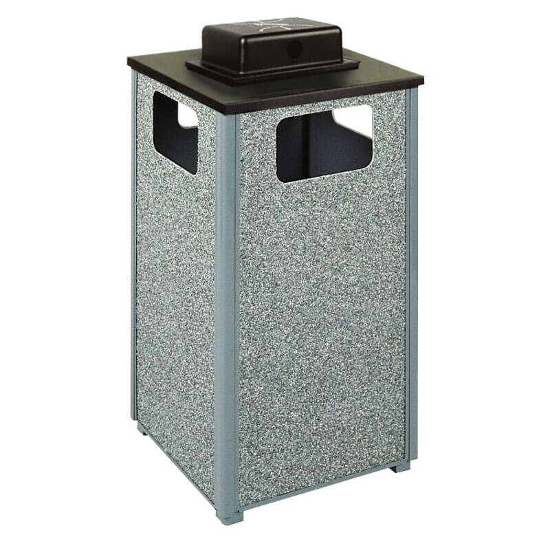 Rubbermaid FGR18WU 2000 PL Trash Can Top Cigarette Receptacle - Outdoor Rated