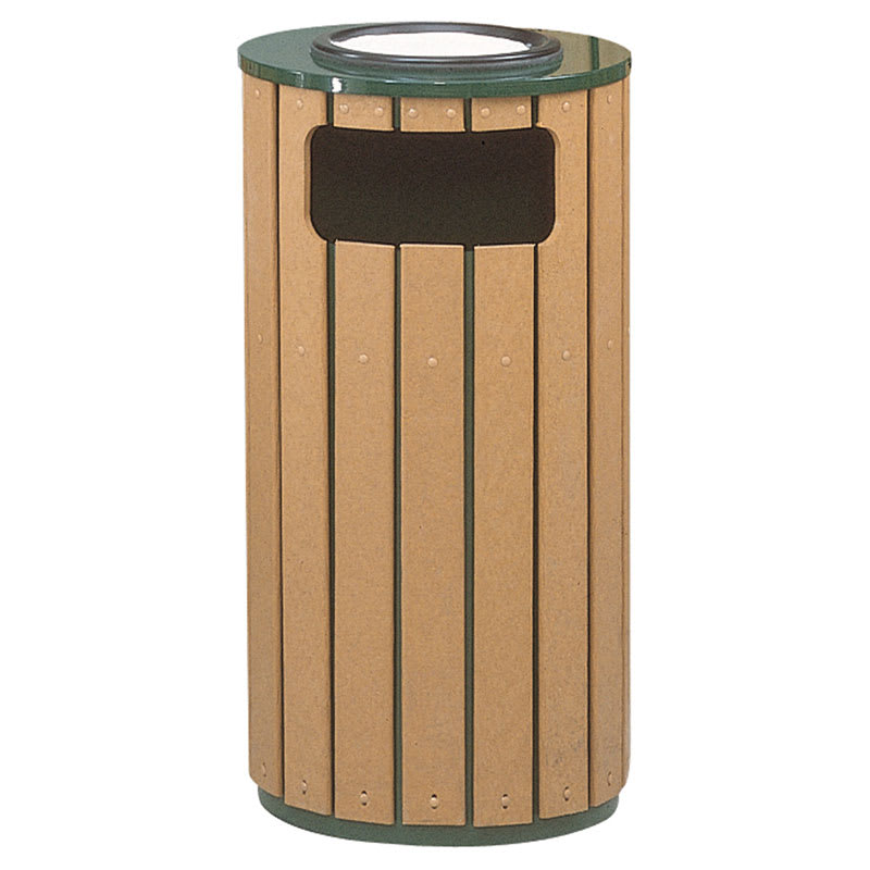 Rubbermaid FGR23SU50PLEGN Trash Can Top Cigarette Receptacle - Outdoor Rated