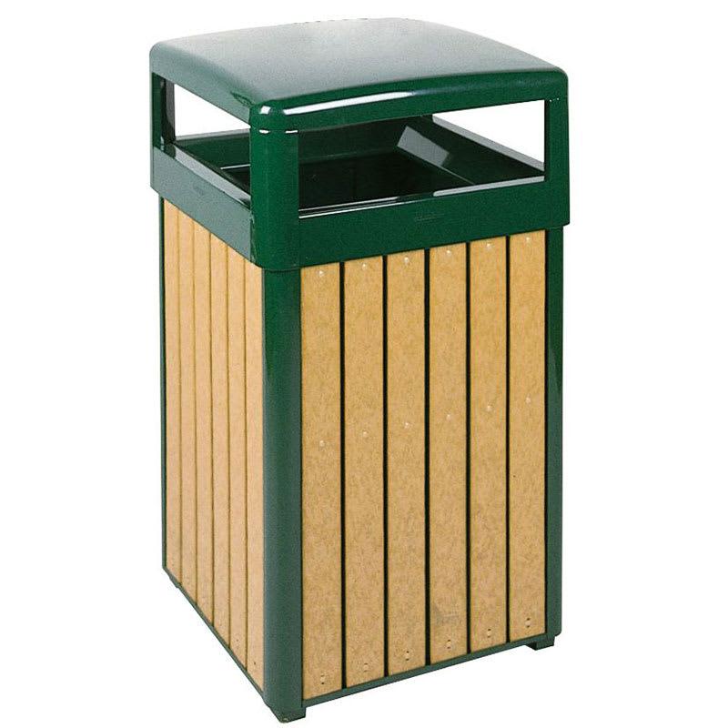 Rubbermaid FGR34HTWU50PLEGN 29-gal Indoor/Outdoor Decorative Trash Can - Metal, Empire Green