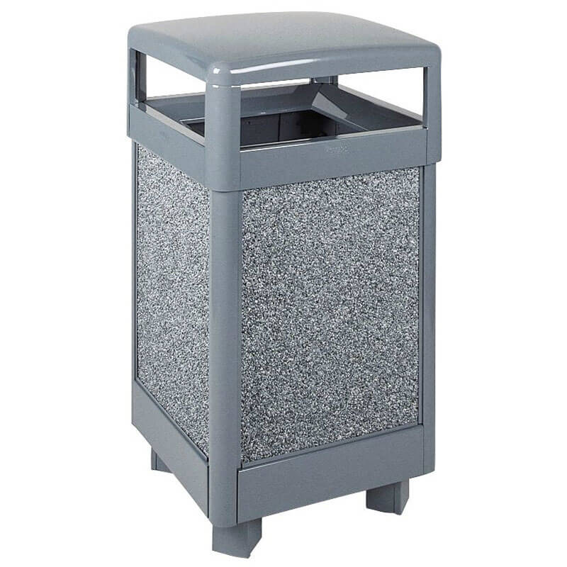 Rubbermaid FGR36HT2000PL 29-gal Aspen Waste Receptacle - Hinged Top, Rigid Plastic Liner, Dove Gray/Gray