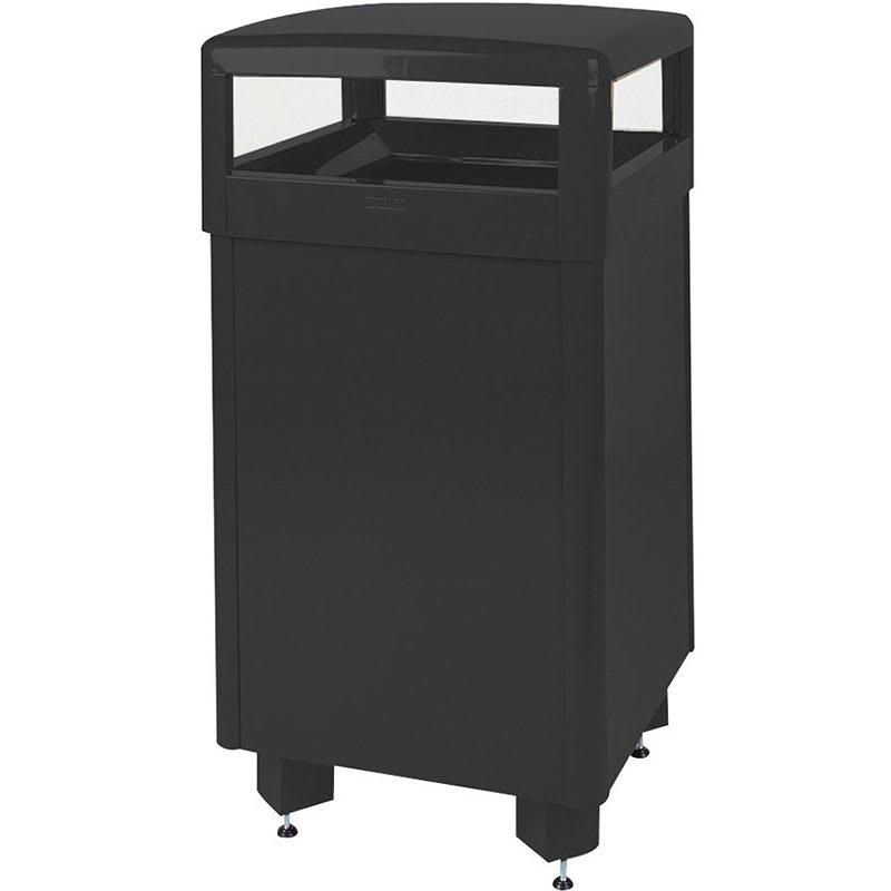 Rubbermaid FGR36HTSBKPL 29-gal Aspen Waste Receptacle - Hinged Top, Plastic Liner, Black