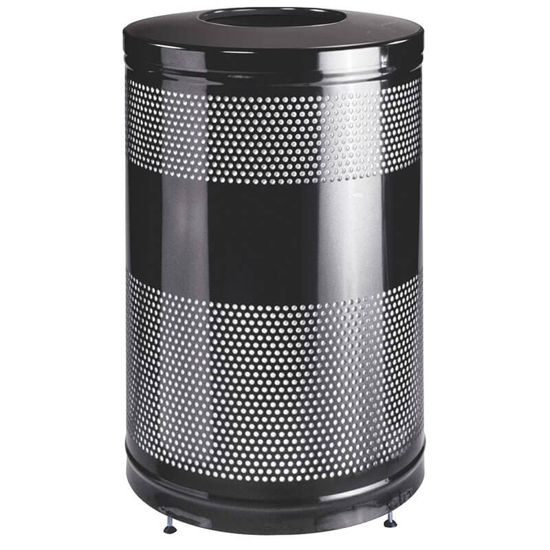 Rubbermaid FGS55ETBKPL 51-gal Cans Recycle Bin - Indoor/Outdoor, Decorative