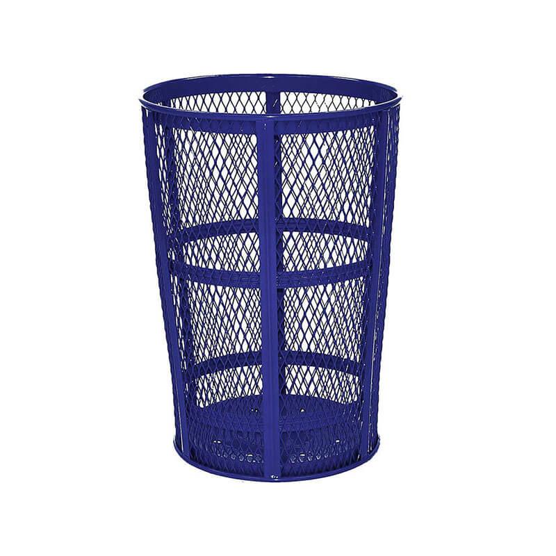 Rubbermaid FGSBR52COB 45-gal Street Basket Outdoor Receptacle - Bottom Drain, Cobalt Blue