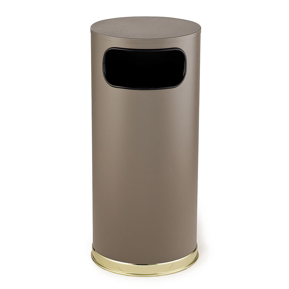Rubbermaid FGSO17SBBRGL 15-gal Indoor Decorative Trash Can - Metal, Brown