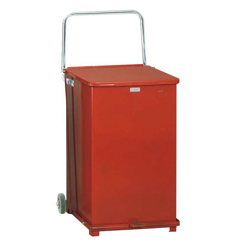 "Rubbermaid FGST40EWRBRD 40-gal Square Plastic Step Trash Can, 19""L x 19""W x 30""H, Red"