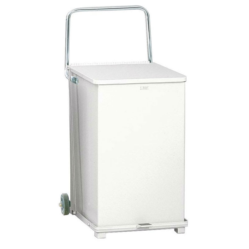 "Rubbermaid FGST40EWRBWH 40-gal Square Plastic Step Trash Can, 19""L x 19""W x 30""H, White"