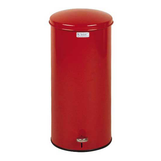 "Rubbermaid FGST5EGLRD 5-gal Round Plastic Step Trash Can, 11"" dia. x 17""H, Red"