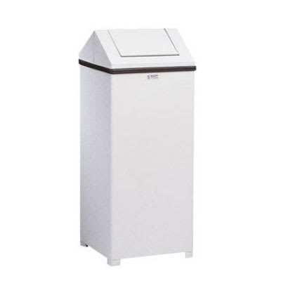 Rubbermaid FGT1424ERBWH 24 gal Indoor Decorative Trash Can - Metal, White