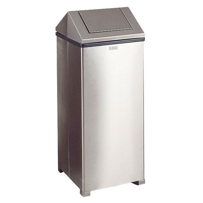 Rubbermaid FGT1424SSPL 16-gal Indoor Decorative Trash Can - Metal, Stainless Steel