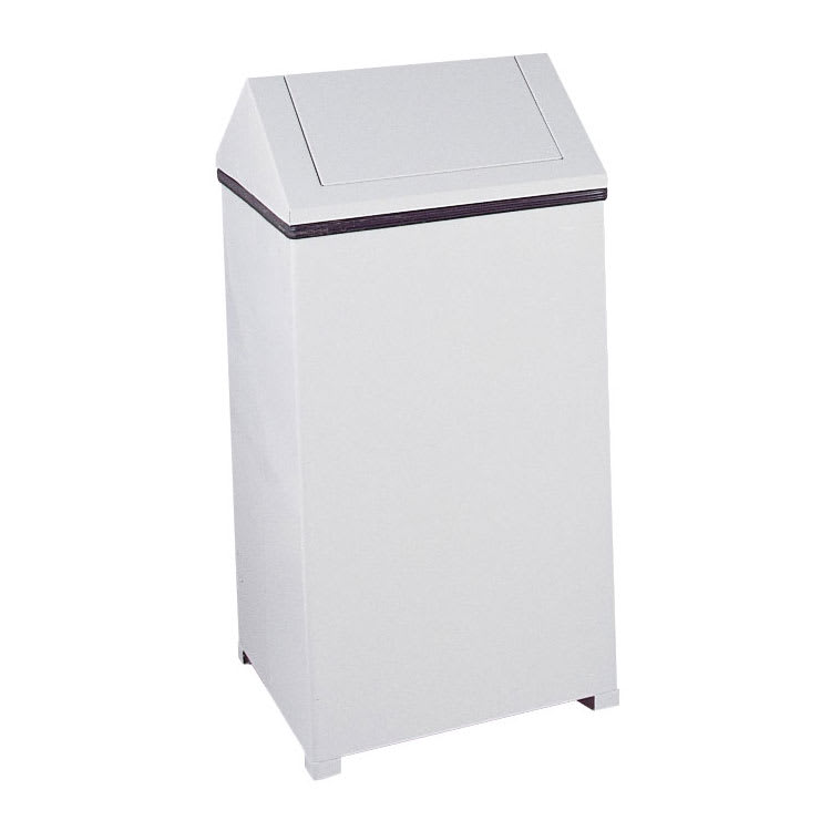 Rubbermaid FGT1940EPLWH 29-gal Indoor Decorative Trash Can - Metal, White