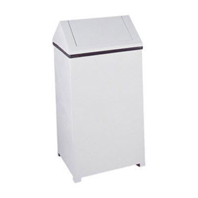 Rubbermaid FGT1940ERBWH 40-gal Indoor Decorative Trash Can - Metal, White