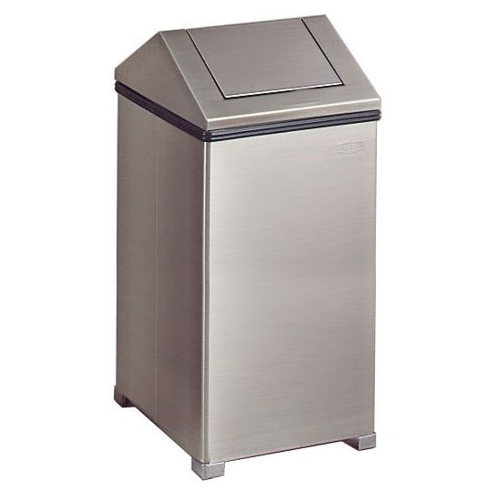 Rubbermaid FGT1940SSRB 40 gal Indoor Decorative Trash Can - Metal, Stainless Steel