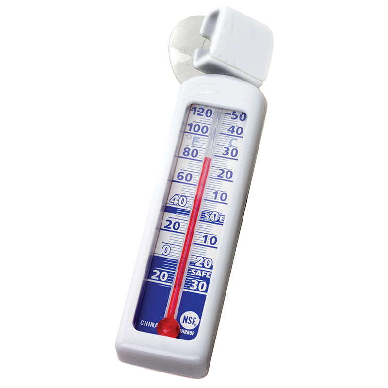 Rubbermaid FGTHR80C Cooler Thermometer - Tube Type, Carded Pack,  -20 to 120 F