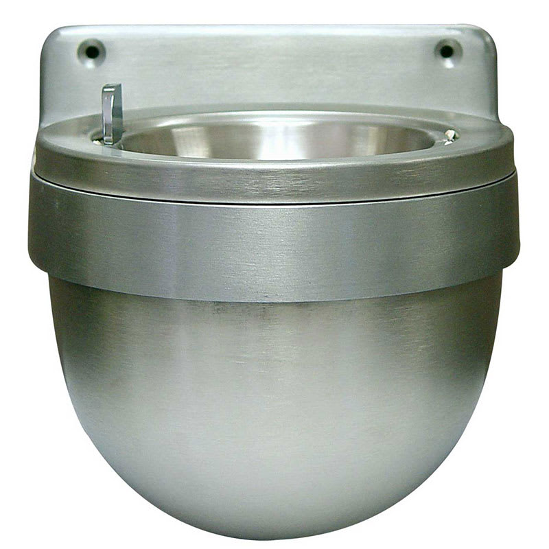 Rubbermaid FGU650SA Mounted Cigarette Receptacle  - Closed Top