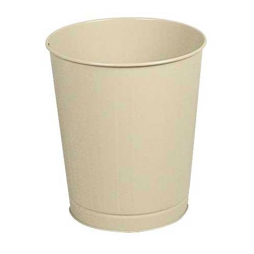 Rubbermaid FGWB26AL 26 qt Round Waste Basket - Plastic, Almond