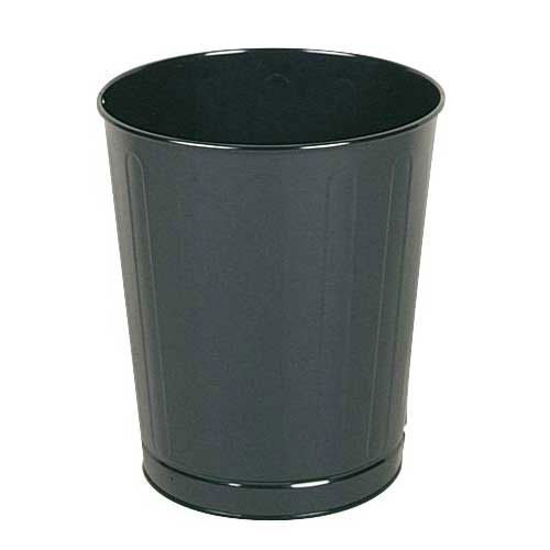 Rubbermaid FGWB26BK 26-qt Round Waste Basket - Plastic, Black