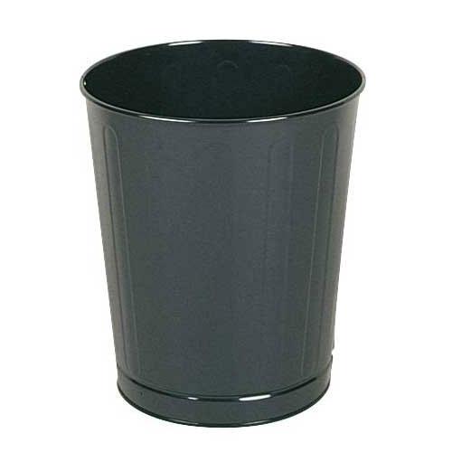 Rubbermaid FGWB26BK 26 qt Round Waste Basket - Plastic, Black