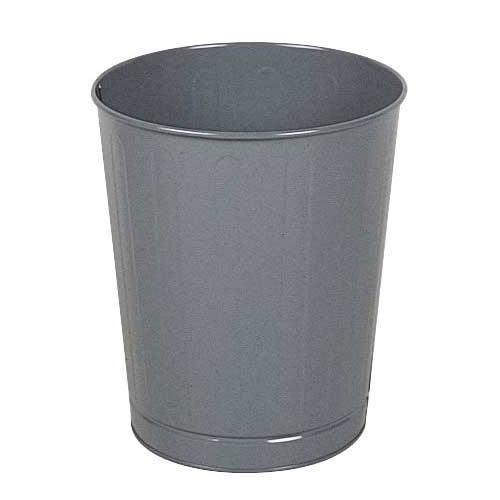 Rubbermaid FGWB26GR 26-qt Round Waste Basket - Plastic, Gray