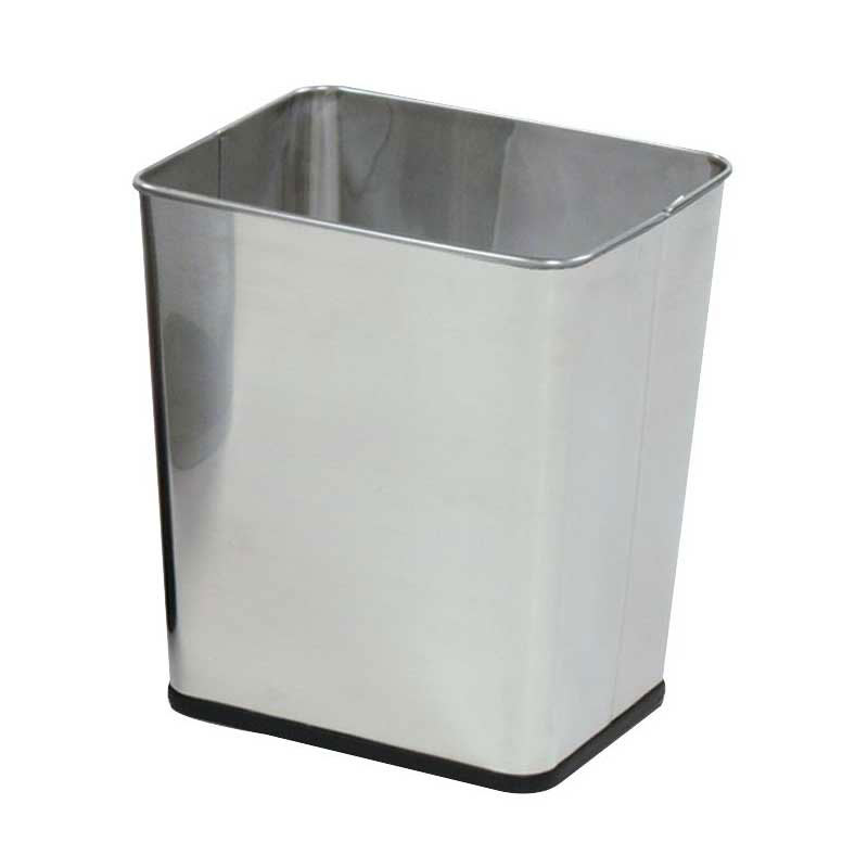 Rubbermaid FGWB29RSS 30-qt Rectangle Waste Basket - Metal, Stainless