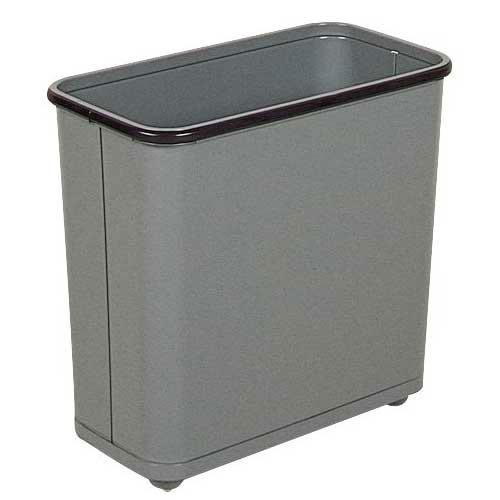 Rubbermaid FGWB30RGR 30 qt Rectangle Waste Basket - Metal, Gray