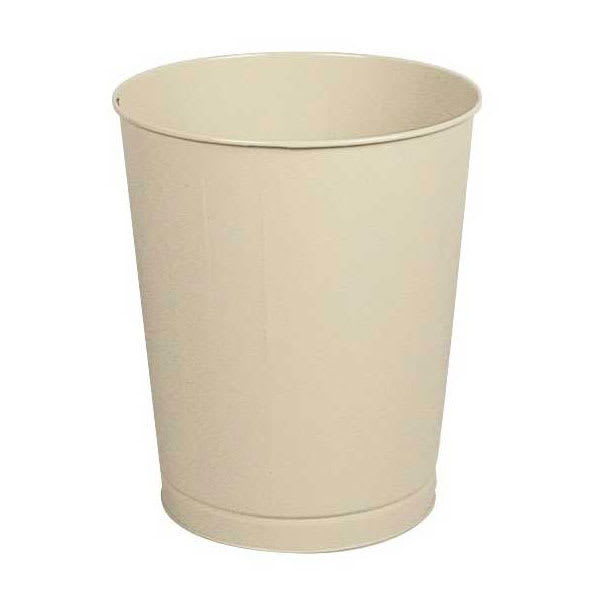 Rubbermaid FGWB44AL 44 qt Rectangle Waste Basket - Metal, Almond