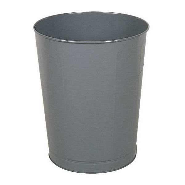 Rubbermaid FGWB44GR 44-qt Rectangle Waste Basket - Metal, Gray