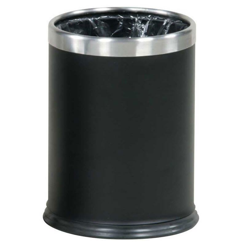 Rubbermaid FGWHB14EBK 3.5 qt Round Waste Basket - Metal, Black