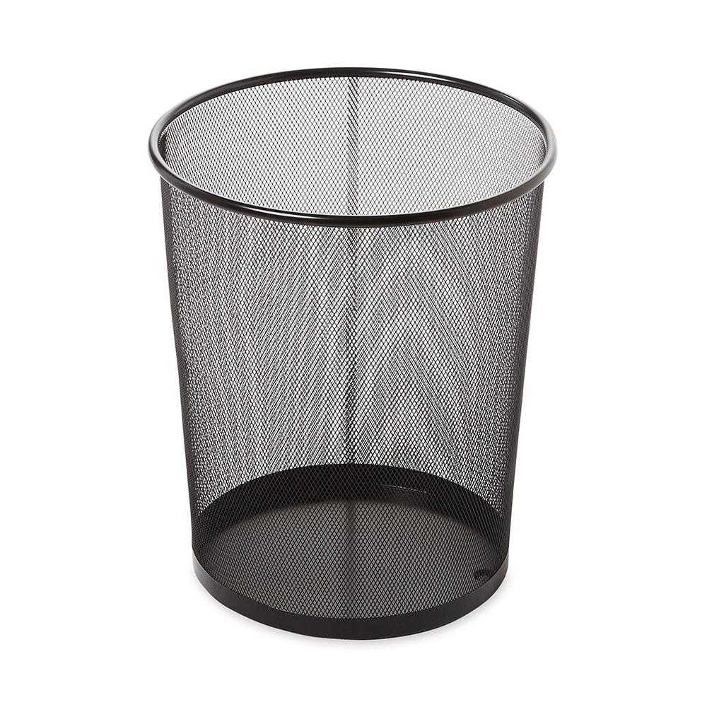 Rubbermaid FGWMB20BK 5-qt Round Waste Basket - Metal, Black