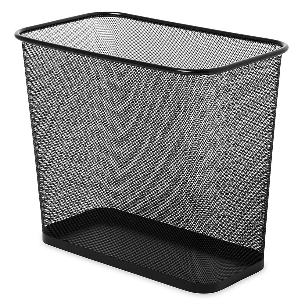 Rubbermaid FGWMB30RBK 7.5-qt Rectangle Waste Basket - Metal, Black