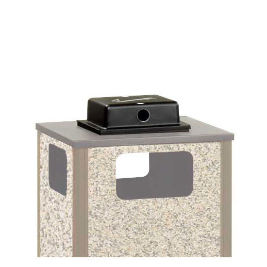 Rubbermaid FGWU3 Trash Can Top Cigarette Receptacle - Outdoor Rated