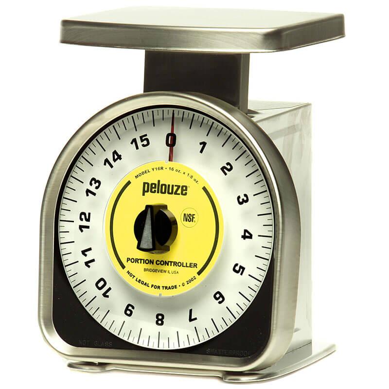 Rubbermaid FGY16R Pelouze Portion Scale - Orange Lens, 16-oz x 1/4-oz, Aluminum/Stainless