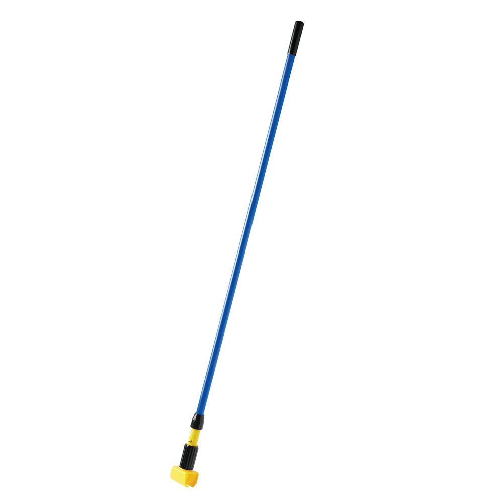 """Rubbermaid FGH24600BL00 60"""" Gripper Wet Mop Handle - 5"""" Headbands, Fiberglass/Plastic, Blue"""