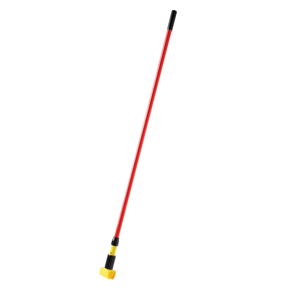 "Rubbermaid FGH24600RD00 60"" Gripper Wet Mop Handle - 5"" Headbands, Fiberglass/Plastic, Red"