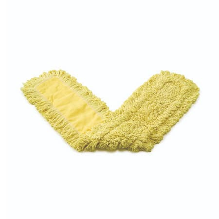 """Rubbermaid FGJ15300YL00 24"""" Trapper® Dust Mop Head Only w/ Looped Ends, Yellow"""
