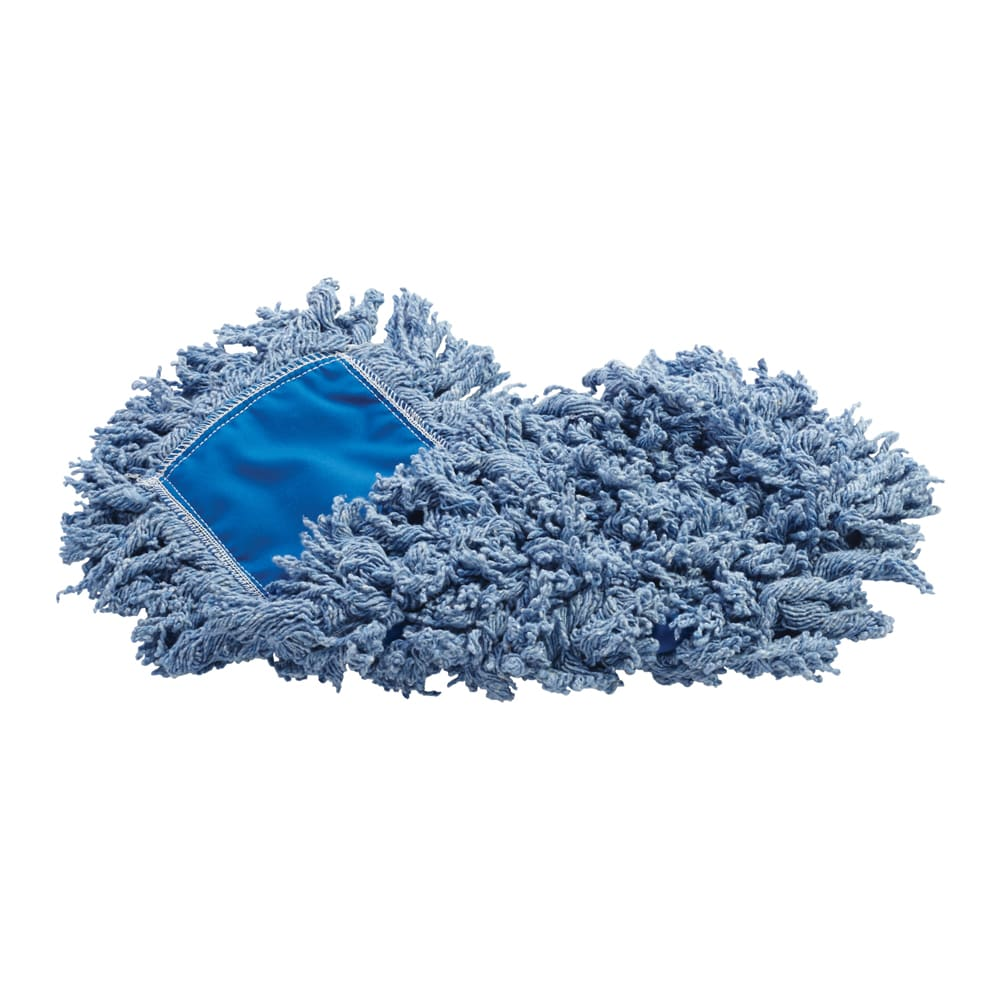 "Rubbermaid FGJ25200BL00 18"" Dust Mop Head Only w/ Twisted Loop Ends, Blue"