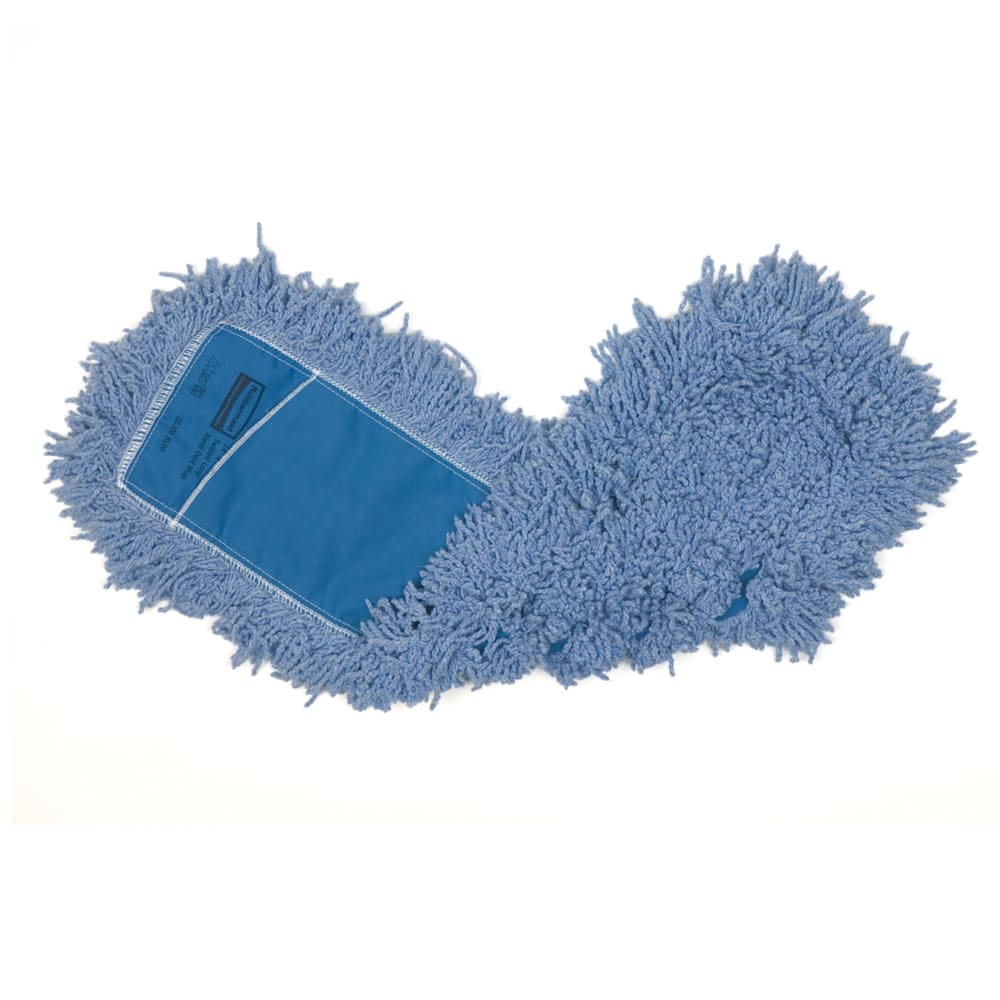 "Rubbermaid FGJ25300BL00 24"" Dust Mop Head Only w/ Twisted Loop Ends, Blue"