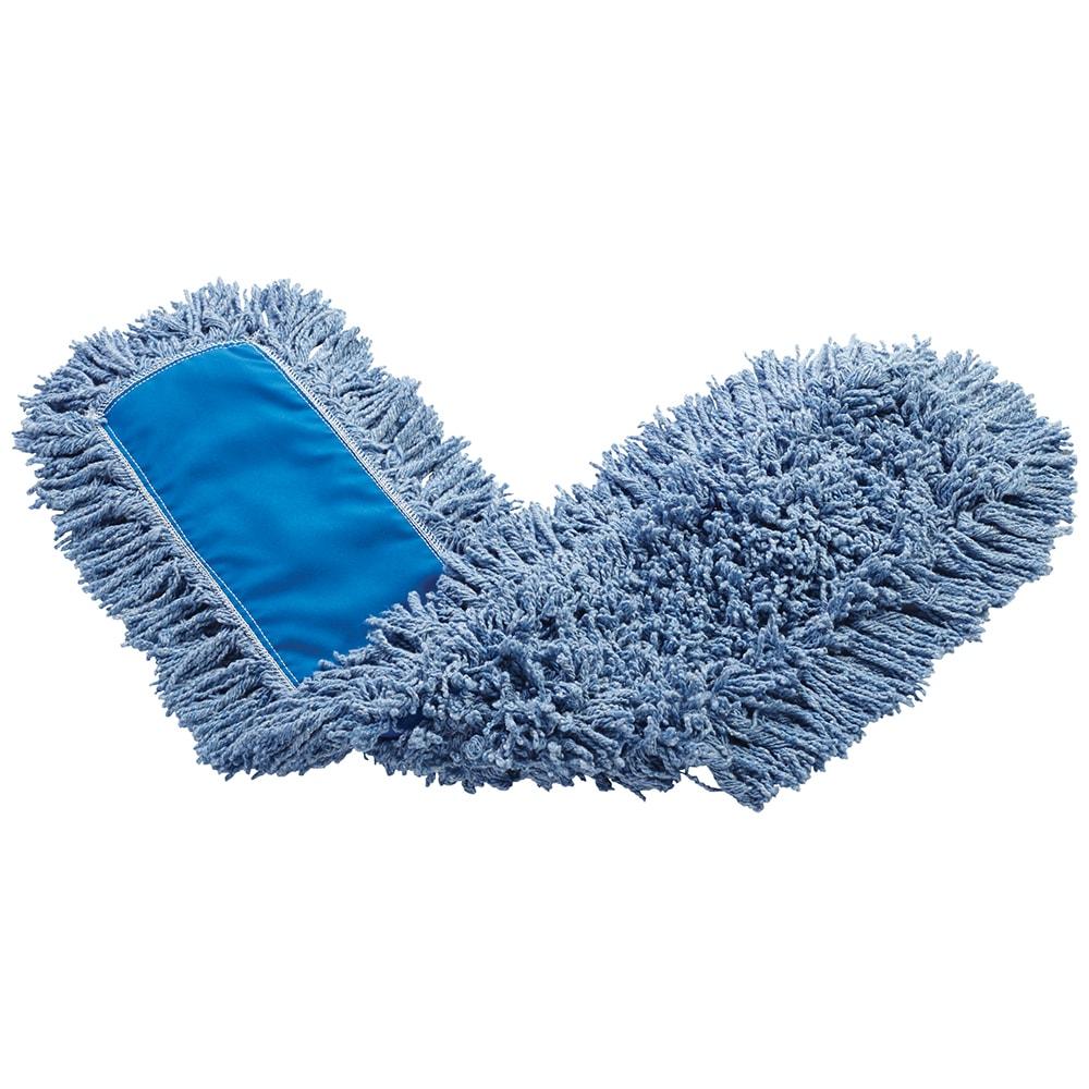 "Rubbermaid FGJ25700BL00 48"" Dust Mop Head Only w/ Twisted Loop Ends, Blue"