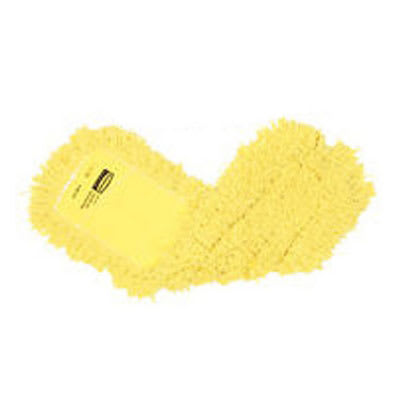 "Rubbermaid FGJ25700YL00 Dust Mop - 48x5"" Twisted Loop, Slip-On/Slip-Through Backing, Yellow"